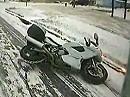 Motorradunfall im Winter: Ich kämpfte mit dem Schnee und der Schnee hat gewonnen
