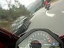 Motorradunfall: Kurve ausgegangen, Gegenverkehr und Abflug Fake?!