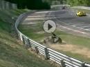 """Motorradunfall Nürburgring Nordschleife. Angst?! """"aufgemacht"""" und Crash"""