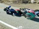 Motorrad Crash: Vorderrad eingeklappt in Harley gerutscht, abgeräumt