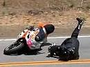 Motorradunfall - stellt das Vorderrad sich quer, gibt es meist kein Halten mehr - Snake Opfer