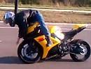 Motorrad abflug: Überschlag - Geil, neue Bremsbeläge die packen zu wie Sau