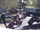 Motorradunfall verladen: Wer selber auf die Rampe fährt, tut das selten unbeschwert!