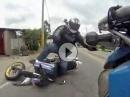 Motorradunfall: Vordermann winkt, bremst ab, Hintermann pennt, bremst, fliegt ab