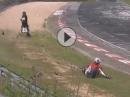 Motorradunfall wegen Ölspur auf der Nürburgring Nordschleife (Grüne Hölle)