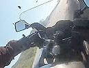 Motorradunfall: Zu schnell, Straße ausgegangen und ab in die Felswand