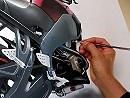 Malerei: Motorräder auf Leinwand
