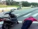 Motorroller Diebstahl: Beim Frühsport den Roller geklaut! Brüller ;-)