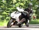 Motorroller Nova Motors F35 Knieschleifen ohne Tuning
