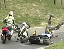 Motorroller Racing Crash - WO kommt der Roller plötzlich her?