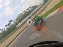 Mugello onboard - hinter Kawasaki ZX10R, Marc Jürgens mit Speer Racing