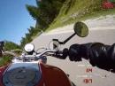 Zügig durchs Namlostal mit der Ducati Monster