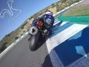 Tiefflug: Niccolo Canepa onboard Jerez hinter Marvin Fritz - Yamaha R1M
