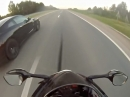 Nissan GTR vs Yamaha R1 vs Suzuki GSXR 1000 - Paff!