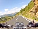 Nockalmstrasse (Kärnten, Österreich) mit Honda CB500