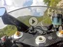 Nockalmstrasse (Österreich) flott mit Yamaha R1