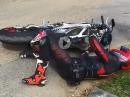 Norton V4 RR Umfaller - peinlich, ärgerlich und teuer der crash