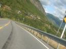 Norwegen RV520 (RYfylke) Odda nach Saudasjoen