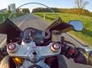 Notbremse OHNE ABS: Aprilia RSV4 RR: 260km/h - Beläge: EBC GPFAX