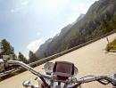 Nufenen Pass Südseite nach Airolo im Tessin.