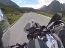 Nufenenpass (Passo della Novena) mit BMW R1250 GS von Ulrichen aus kommend