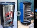 Ölfass als Werkzeugwagen - The Ultimate Toolbox - geile Idee
