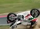 Ölspur mit Folgen - SBK 1999 Nürburgring - Edwards rastet aus.