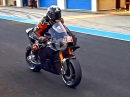 Ohrgasmus: Scott Redding, Aprilia RS-GP, Stoppie, Go - Jerez Test