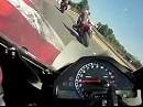 Zolder (Belgien) onboard Honda SC57 01.06.2011 - Splitscreen