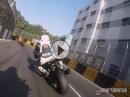 VOLLGAS: Onboard Macau - BMW S1000RR HP4 - First Lap / Crash