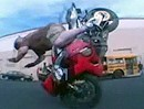 Two handed bremsing - One handed stoppie Crash