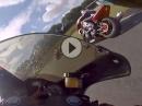 Oschersleben Aprilia RS125, 32PS spielt 1000er haschen, außen rum - yes!