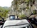 Passo di Baremone Auffahrt / del Marè in der Nähe Lago d'Idro, Italien