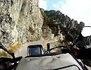 Passo di Baremone Abfahrt / del Marè in der Nähe Lago d'Idro, Italien