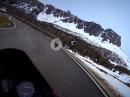 Passo Giau, Dolomiten Runde mit Aprilia Pegaso 650