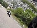 Passo Pian delle Fugazze bergab nach Rovereto. Motorradtour Trentino, Italien