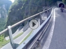 Passo San Boldo (Umbaldopass) Enge Kehren, viele Tunnel - einzigartig!