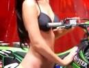 PinUp Motocross Girl - Kelsey - ob die mit Motocross wirklich was am Hut hat?