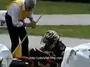 Pocket Bike Unfall - da ist noch ein bisschen Übung notwendig bis es passt.