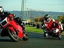 Pocketbike GRC RRz 50ccm vs Ducati 888, Klein gegen Groß - Leistung ist nicht alles