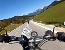 Pötschenpass, Salzkammergut, Österreich: Triumph Speed Four vs. Honda CB500