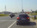 Polizeieinsatz engagiert mit Wheelie - Guter Wachtmeister