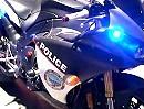 Polizei Motorrad Yamaha R1 - abhauen ist nicht mehr ;-)