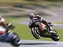 Porno: Luftkampf Rea und Haslam in Cadwell-Park (2007) mit Raureif auf dem Helm