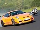 Battle Porsche 997 GT3 RS vs. BMW S1000RR Fun und Drift Session