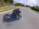 Power Burnout mit Harley Davidson - Gummivernichtung rockt!