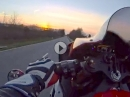Powerwheelie entsichert Yamaha R1 RN32, SC-Project Soundtrack