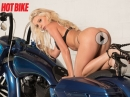 Pressly Ann Sexy Shooting Custom Harley-Davidson Road King