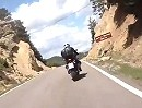 Puerto de Serrablo Motorradtour Richtung Ainsa (A1604), Pyrenäen, Spanien