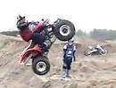 Quad ATV Sprung Wer sagt dass senkrecht nicht geht?